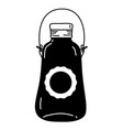 silhouette mason jar with sticker and wire handle vector image vector image