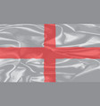 silk flag of england and saint george vector image vector image