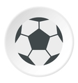 Soccer ball icon flat style vector image vector image