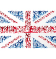 Sports silhouettes UK flag vector image