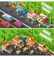 Street Food Banners Set vector image vector image