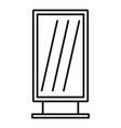 street light box icon outline style vector image vector image