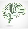 technological brain circuit board vector image