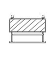 traffic barrier flat icon monochrome silhouette vector image vector image