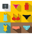 underclothes icon set flat style vector image vector image