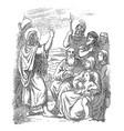 vintage drawing biblical story john the vector image