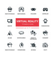 virtual reality - line design silhouette icons set vector image vector image