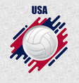 volleyball usa background vector image vector image