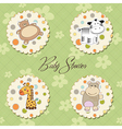 cartoon baby toys items collection vector image