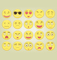 emoticon set emoticon for web site chat sms vector image