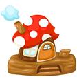 fantasy Mushroom house vector image
