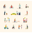 People in the city Flat icons vector image