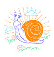 a snail that crawls vector image vector image