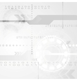 Abstract grey engineering tech background vector image