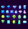 amethysts sapphires and emeralds precious stones vector image