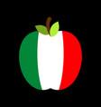 apple italy flag italian national fruit vector image