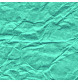 background crumpled paper in turquoise color vector image