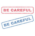 be careful textile stamps vector image vector image
