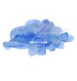 beautiful blue watercolor texture vector image vector image