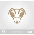 Bee outline thin icon Animal head symbol vector image vector image