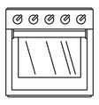 big gas cooker icon outline style vector image vector image