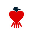 bird love logo icon concept vector image vector image