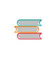 books flat icon education and school element vector image vector image