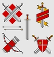 Bows and swords vector image vector image