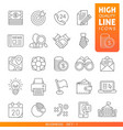 business and finance high quality trendy line vector image