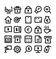 Business Icons 9 vector image vector image