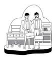 businessmen avatar cartoon design vector image