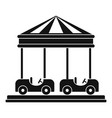 car carousel icon simple style vector image