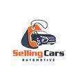 car sales showroom logo vector image