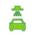 car wash sign lemon scribble icon on vector image