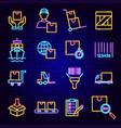 cargo logistics neon icons vector image vector image