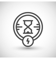 Charging time line icon vector image vector image