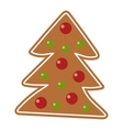 Christmas cookie isolated icon vector image