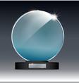 circle glass trophy award vector image vector image