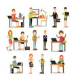 creative team people flat icon set vector image