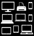 Digital device icons vector image