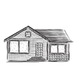 Drawing houses sketch vector image vector image