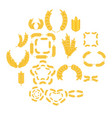 ear corn icons set cartoon style vector image vector image