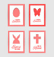 easter gift tags and cards vector image