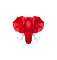elephant head logo geometric lowpoly vector image