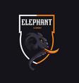 elephant mascot logo design with modern vector image