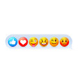 emoji set icon collection comic emotion sign vector image