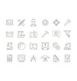 engineering symbols manufacturing civil chip vector image vector image