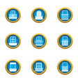 fenestra icons set flat style vector image vector image
