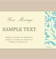 floral card vintage blue vector image vector image