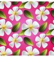 frangipani flowers seamless pattern vector image vector image